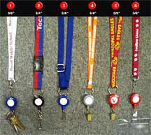 Custom Logo Retractable Lanyards with Retractable Reels for Name Badge Holders