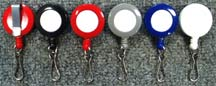 RT-05 Retractable Name Badge Reels with Spring Hooks for Badge holders or Badge clips